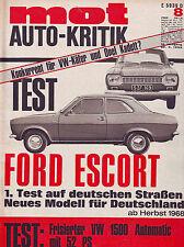 mot 8/1968 TEST: Hundeknochen Ford Escort/Tuning VW 1500 Automatic/20.4.68