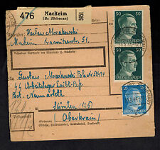 1944 Mackeim Germany Parcel Cover to Loibl Pass Concentration Camp Mauthausen