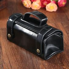 Black PU Leather Travel Toiletry Wash Bag Shaving Brush Razor Sports Pouch Case