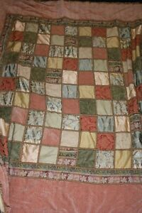 JC Penney Home Collection Bed Patchwork Quilt 8ft10 x 7ft9 Pastel Large Spread