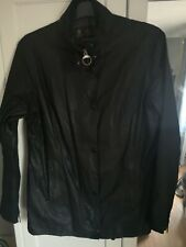 Barbour Waxed Jacket, Black, Light Weight Size 14