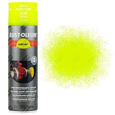 x 15 très haute recouvrement Rust-Oleum JAUNE FLUO Peinture aérosol