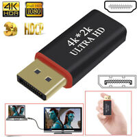 Port To HDMI Adapter DisplayPort DP Converter For HDTV PC Monitor Projector