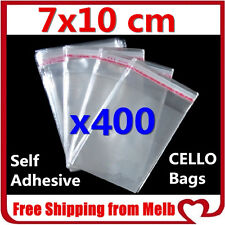 400x Cello Bag 7x10cm Cellophane Clear Resealable Plastic Self Seal Adhesive