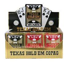 Cartucho de 12 juego de 54 cartas Copag Gold 100% Plástico Negro Rojo Oro 400667