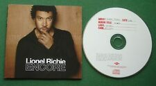 Lionel Richie Encore inc Hello / Stuck On You + CD