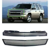 Koolzap For 07-14 Tahoe Front Lower Upper Grill Grille Assembly SET Chrome 15944326 22830012