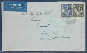 Northern Rhodesia 1938 sg 34,8 9d rate PM KASEMPA 24 Aug 51