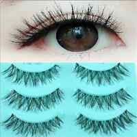 5Pairs Fashion Eyelashes Makeup Messy Cross False Eye Lashes Black Nautral FT90