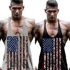 uomo senza maniche t-shirt canotta bodybuilding MUSCOLO Camicia estiva palestra