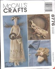 """8776 UNCUT McCalls Vintage Sewing Pattern 22"""" Gardening Angel Doll Pattern OOP"""
