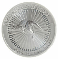 2015 Australian Kangaroo 1 oz .999 Fine Silver by Perth Mint-Mintage only 300K