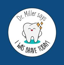 35x I Was Brave Today! Personalised Dentist Healthy MEDICAL Stickers 25mm 280