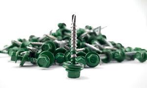 Trapezblech Schrauben Selbstbohren 4,8 x 35 mm Laubgrün RAL 6002 neu 100 Stück