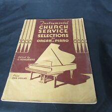 Kohlmann Instrumental Church Service Selections Organ or Piano Vintage Unmarked