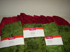 Huge Lot Green + Red Holiday Napkins Better Homes & Gardens 16 pc