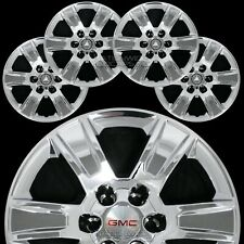 "4 2014-2018 GMC Sierra 1500 20"" Chrome Wheel Skins Hub Caps Aluminum Rim Covers"