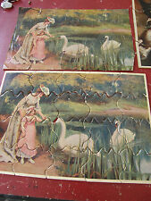 4.Vintage Wooden /card Jigsaw Puzzles in-Complete  very collectable free uk post
