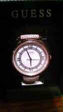 Guess Montauk Ladies Watch W0934L5 Leather Belt Stainless Steel Watch