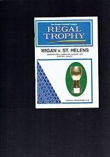 #VV4. RUGBY  LEAGUE PROGRAM - WIGAN V ST HELENS , 8th July 1995
