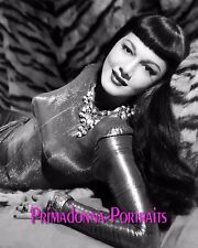 "MARIA MONTEZ 8X10 Lab Photo 1949 ""SIREN OF ATLANTIS"" Slinky Gown Portrait"