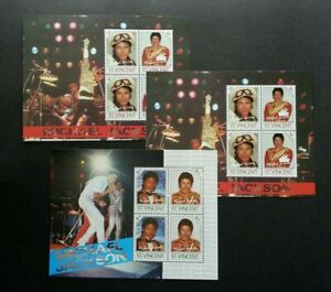 [SJ] St. Vincent Michael Jackson 1985 Singer King Of Pop Music Dance (ms) MNH