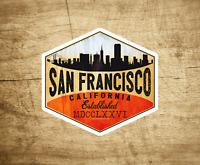 "San Francisco Vinyl Decal Sticker 3"" x 2 7/8"""