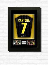 More details for eric cantona man utd football shirt print or framed display free uk postage
