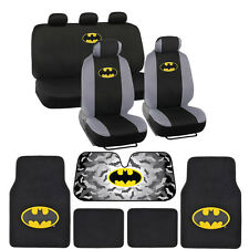 Batman Full Gift Set - Floor Mats, Seat Covers, Autoshade for Car & SUV