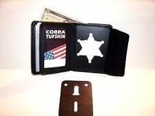 """Fugitive Recovery Agent BADGE ID WALLET 2 1/4"""" Circle Cut Out  CT-10"""