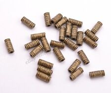Wholesale 100Pcs Antique Tibetan Silver TUBE Charm Spacer Jewelry FindingsBE3032