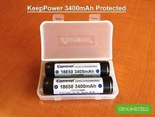 4x Keeppower Protected 18650 3400mAh with Panasonic NCR18650B Li-ion Battery PCB