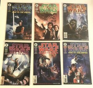 Dark Horse Star Wars Comics Lot of 6 Heir to the Empire Full Set 1-6 Excellent