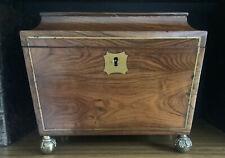 More details for beautiful antique georgian rosewood tea caddy