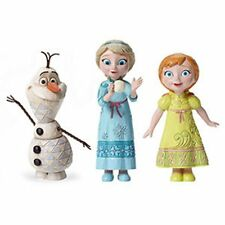Jim Shore Young ELSA, Young ANNA, and OLAF figurines - MINT!