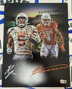 Bijan Robinson Jordan Whittington Signed 11x14 UT Texas Longhorns Photo BAS COA