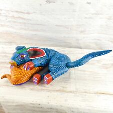 A1603 Dog Alebrije Oaxacan Wood Carving Painting Handcrafted Folk Art Mexi