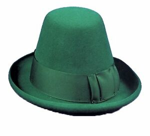 St. Patricks Day Leprechaun Classic Kelly Green Felt Conical Top Hat