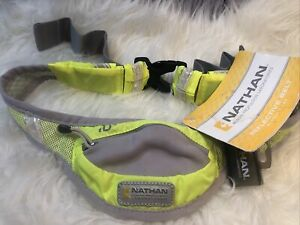 Nathan Reflective Belt Runner's Pak ID Pocket Adjustable Clip Yellow NWT