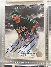 2013 Bowman Inception Prospect Autographs #PA-MH Miles Head Auto Oakland