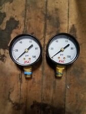 2 Jones Stephens Corp JSC Gauge Assembly 100 PSI Test Air Gas Industrial Art