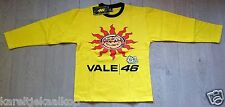 Valentino Rossi Childrens Sweatshirt size 16 yrs.Yellow with Sun & Doctor prints