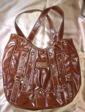 BABY PHAT Large hobo type shoulder bag purse brown with gold tone hardware
