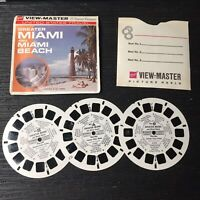 Vintage View-Master 3-Reel Set Greater Miami And Beach Scene Complete EUC A499