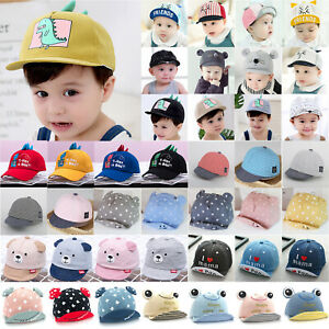 Kids Baby Cute Baseball Caps Toddler Boys Girls Casual Visor Hats Outdoor Summer