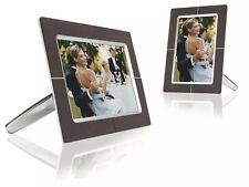 PHILIPS Photoframe Digitaler Fotorahmen mit edler Holzoptik braun, Edelstahl