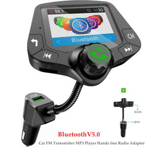12-24V Car Hands-free FM Transmitter Bluetooth MP3 Player HD 2''Screen