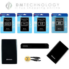 "HARD DISK ESTERNO 2,5"" 500GB-750GB-1TB-2TB VERBATIM USB 2.0/3.0 AUTOALIMENTATO N"