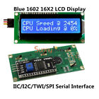 HD44780 IIC/TWI/SP​​I Serial Interface Blue 1602 16X2 LCD Module Display
