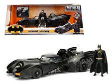 1989 BATMOBILE WITH DIECAST BATMAN FIGURE DIECAST MODEL CAR 1/24 BY JADA 98260
